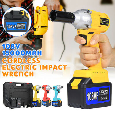 Cordless 108V Electric Impact Wrench Brushless Rattle Gun Car Torque Driver Tool