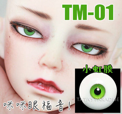 TATA glass eyes TE-18 14mm//16mm for BJD SD MSD 1//3 1//4 size doll use ice blue