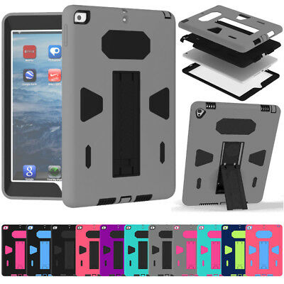 For New iPad 9.7 2018 6th Gen Shockproof Heavy Duty Rubber Hard Stand Case Cover