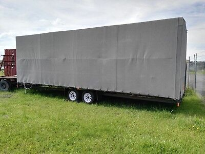 Flat top tandem  enclosed Trailer with Cover 8m x 2.5m x 2.4m