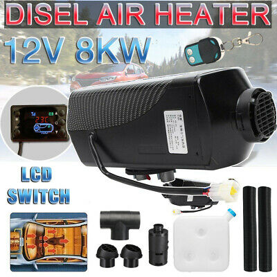 8KW 12V Diesel Air Heater LCD Thermostat Quiet 8000W For Trucks Boat Car