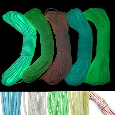 10FT 9 Cord Strand 550Lb Glow in the Dark Nylon Paracord Parachute Outdoor