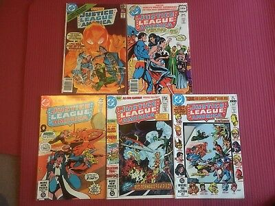 Job Lot Of 4 Issues Of Justice League Of America Comics 1978 to 1982 DC Comics