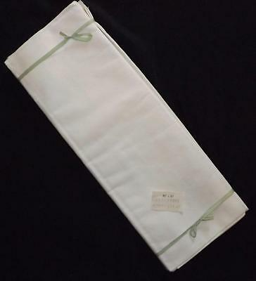 "Pair of UNUSED Vintage White Cotton Sheets 80ins"" x 97ins"" / 203 cms x 246 cms"
