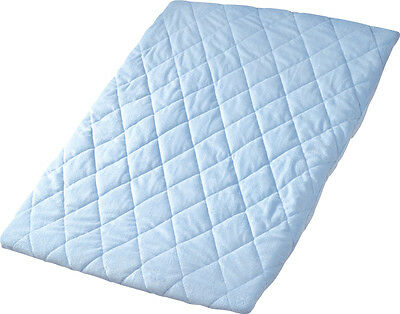 Quilted Travel Cot Sheet - Pink or Blue or Cream or Charcoal- HIGH QUALITY