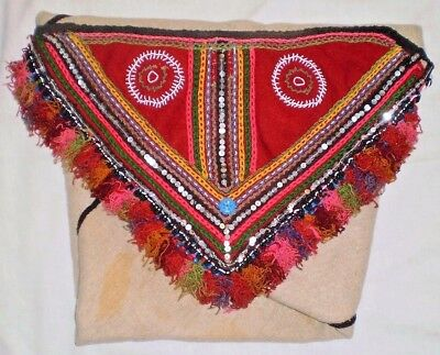Antique Rare Peruvian Indian Papoose Alpaca Wool Hand Loomed Blanket-1950's