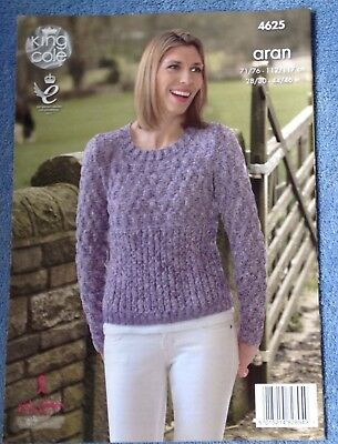 a70bc47f1 KING COLE 4625 Knitting Pattern Womens Sweater   Cardigan in Fashion ...