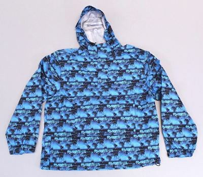 8880ea27bfd Supreme Mens World Famous Taped Seam Hooded Pullover CB8 Cyan (Blue) Size  Medium