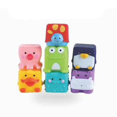 Silicone Mixed Animals Swimming Bath Baby Shower Squeaky Birthday Party Toys 6A