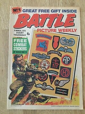 Battle Picture Weekly No.1 March 8th. 1975