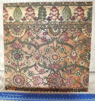 "Past Times William Morris style wall tile 12"" square"