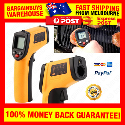 Handheld Digital LCD Infrared Thermometer Non-Contact IR Laser Thermal Meter