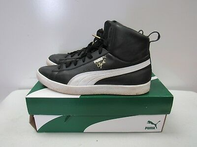 51d6f75917f ... new high quality Men s Puma Clyde Mid Core Foil Sneakers 36580201 Black  sz 10M K944 ...