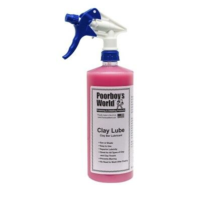 Clay Lube Clay Bar Lubricant 473ml Super Slippery Car Care - Poorboys World CL16