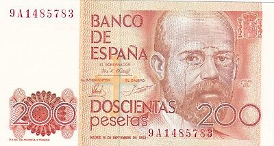 Spain 200 peseta 1980 / Unc / P 156 R / MWR RB1 / 239 / Replacement