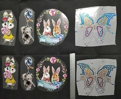 Lot 8 patch thermocollant Papillon  Lapin sucette
