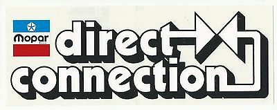 Mopar Direct Connection Racing Decal Sticker 10-5/8 Inches by 4 inches Clear