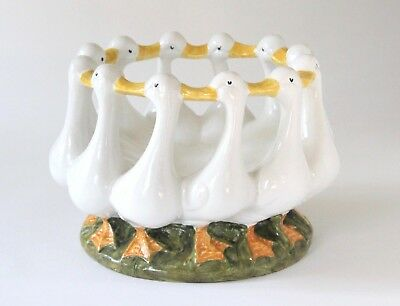 Geese Circle Ring Bowl Centerpiece Vintage Italian may be Bellini for Gumps