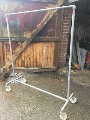 Industrial Vintage Style Clothes Garment Rail, Scaffold Tube / Key Clamp Build