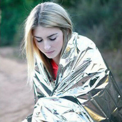 210*130CM Emergency Blanket Thermal Insulation Outdoor Survival Tool Portable