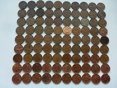 Collection 1 Cent 1920-2012 Canada... Lot 90 Coins...