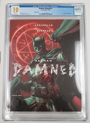 Batman Damned #1 2018 DC Comics 1st DC Black Label Jim Lee Variant CGC 10.0 MINT