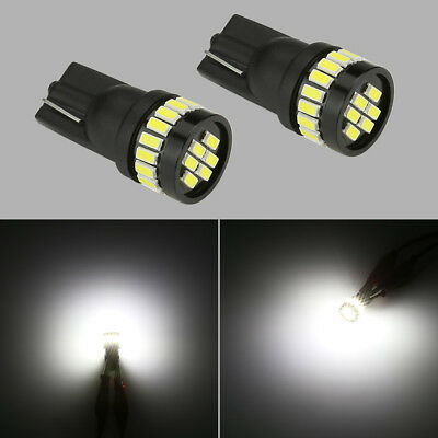 10x Cool White T10 W5W 194 6SMD Wedge Car License Plate Dome Map LED Light Bulbs