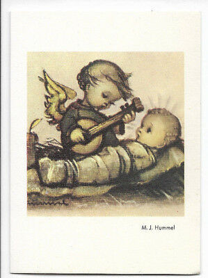 Vintage 1960 M. J. Hummel Little Angel and Jesus Christmas Card from Germany