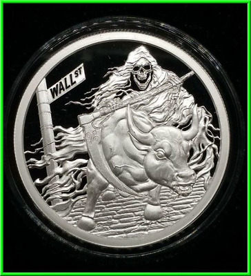 2018 1oz Rate Reaper Proof Silver Shield MiniMintage Death of the Dollar
