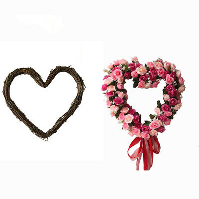 Christmas Wreath Hanging Ornaments Vine Love Heart Home DIY Wicker Decoration