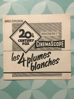 LES 4 PLUMES BLANCHES avec Anthony STEEL Laurence HARVEY - Manuel d'exploitation