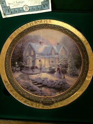 """Thomas Kinkade 2004 """"BLESSINGS OF CHRISTMAS"""" 6th Issue Cherished Memories"""