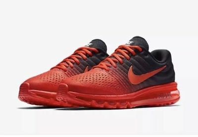 Nike Air Max 2017 Men's Running Lifestyle Shoes 849559 600 Bright Crimson NIB