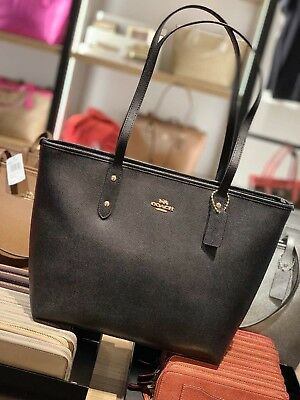 COACH F58292 F58846 City Zip Tote Outlet Exclusive Handbag New With ... 0e30ec5a03