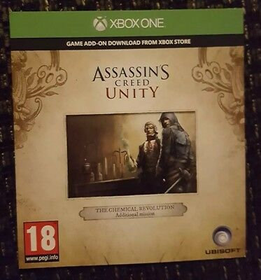 Assassins Creed Unity XBOX 1 DLC-THE CHEMICAL REVOLUTION MISSION - NOT FULL GAME