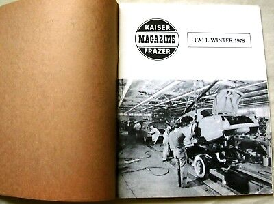 3 issues Kaiser-Frazer Owners Club Quarterly Fall 1978 Fall 1979 Winter 1982