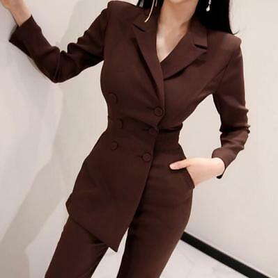 Womens Spring Suit Trousers High Waist Slim Casual Pants Jumpsuits Rompers Zsell