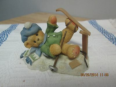 Cherished Teddies, Spencer I'm Head Over Skis For You #319 HMS