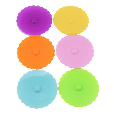 Fruit Cup Cover Cute Silicone Glass Cup Cover Coffee Mug Suction Seal Lid Cap AG