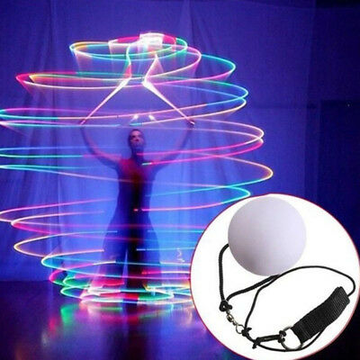 LED Multi-Coloured Glow POI Thrown Ball Light up for Belly Dance Hand Props tall