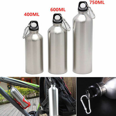 400/600/750ml Wide Mouth Drinking Sports Cycling Water Bottle Stainless Steel