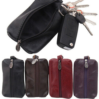 Men Leather Card Holder Coin Wallet Money Clip Key Case Coin Bags Purse Pouch