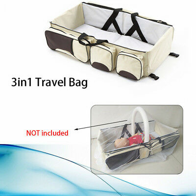 New Baby Travel Changing Station Baby Crib Diaper Bag Bassinet Outdoor Portable