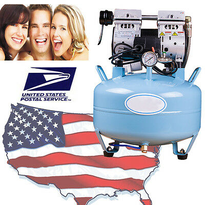 USA Noiseless Oil Free Oilless Air Compressor 30L 130L/min for Dental Chair CE