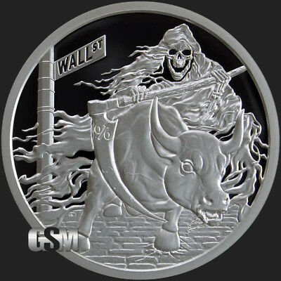 "2018 Silver Shield RATE REAPER Proof - #18 in ""Death of the Dollar"" Series - SSG"