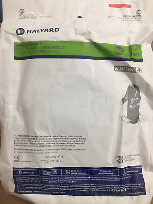 (1) HALYARD 44675 AERO CHROME XXL GOWN Breathable Surgical Hospital clinic