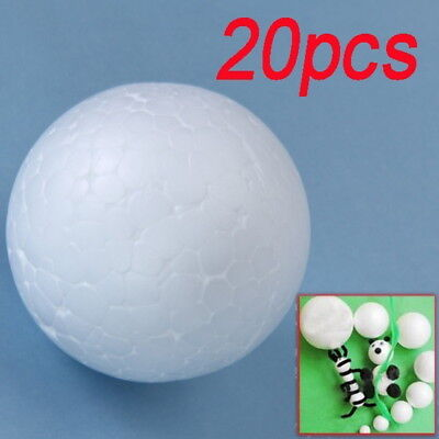 20PCS White Modelling Polystyrene Styrofoam Foam Ball Sphere DIY Crafts 2cm #WE9