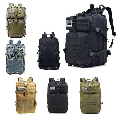 55L Outdoor Neutral Adjustable Military Tactic Backpack Rucksacks Hiking Travel