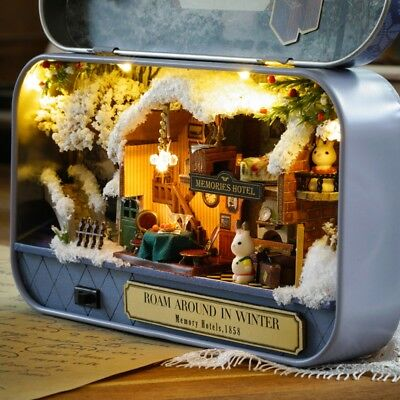 DIY Miniature House Kit Assembled Model Creative Gift Toy Box Theater Old Times