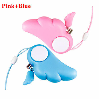 2pcs Security Self Defense Keychain Personal Safety Alarm Anti-Attack for women